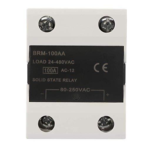 BJLWTQ Relay, Módulo de relé 24-480VAC SSR relé de Estado sólido for Las Luces de señales, semáforos, CNC mecánica Sistema de Control Remoto (BRM-100AA)