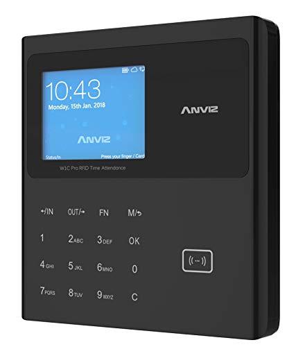 """Anviz W1C Pro Rilevazione presenze: card rfid e PIN, Linux, CPU 1 GHZ, LCD TFT 2,8"""", Tcp/ip, tastiera a sfioramento, Pendrive inclusa. Nero"""