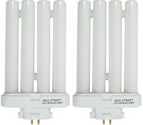 (6 Pack) FML27/65 27 Quad Tube Compact Fluorescent Light Bulb, Paquete de 2