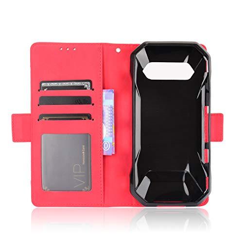 MingMing Lederhülle für Kyocera Torque 5G Hülle, Flip Hülle Schutzhülle Handy mit Kartenfach Stand & Magnet Funktion als Brieftasche, Tasche Cover Etui Handyhülle für Kyocera Torque 5G, Rot