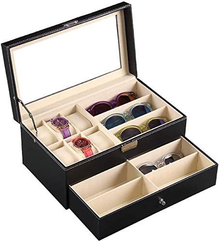SHANCL Visualizzare Organizzatore for Occhiali di immagazzinaggio e Holder Box Collector for la Presentazione di Occhio Indossa Gioielli Orologi Protector Holder Box