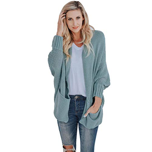 Purchase Women Open Front Knit Sweater Green Oversize Batwing Sleeve Cardigan Sweater Sleeve Sweater Casual Loose Fall Sweater with Pocket