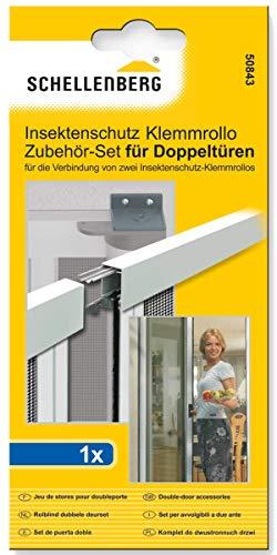 Schellenberg 50843 Beslagset voor bescherming tegen insecten, dubbele deur, rolgordijn
