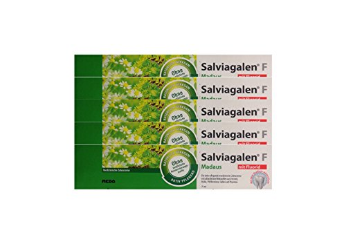 5x Salviagalen F Madaus Zahncreme 75ml PZN 11548356 Zahnpasta