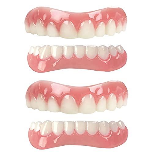 GHJGDAOM Dentures Cosmetic Veneer, Natural Tone Instant Veneers Dental...