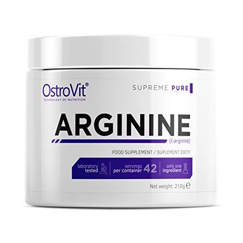 ARGININE 210-42 Porciones | Amplificador de óxido nítrico | L-Arginina | Bomba muscular y crecimiento | Resistencia | Rendimiento | Suplemento deportivo