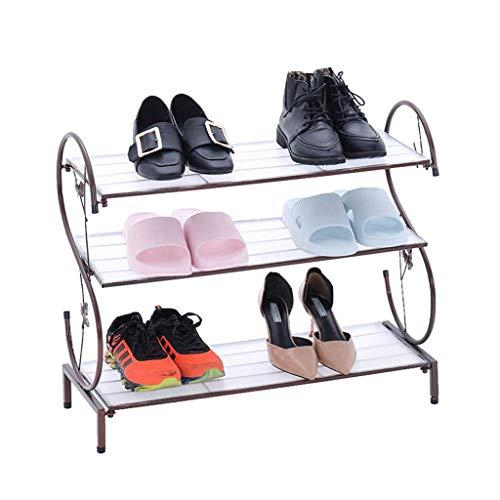 BBGSFDC Zapato HISTA Iron Multi-Capas sobre STARCHE STARCHE Metal Stand DE ZAPA DE Metal, Gabinete de Zapatos de Almacenamiento de Zapatos Ajustable Ampliable (Color : Brown)