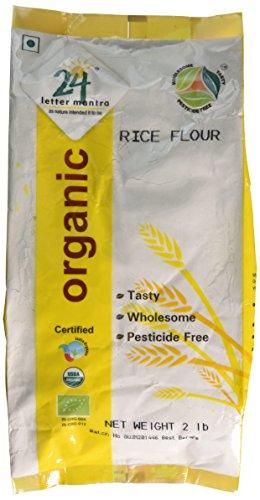 Organic Rice Flour Pure White - Rice Atta USDA Certified Organic...