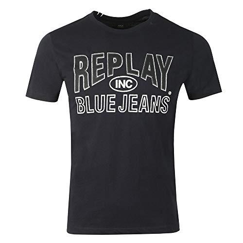 Replay M3598 .000.2660 - Camiseta para hombre, talla XX, color azul