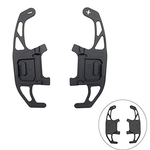 Cambio de remo extendido 2x Paletas De Cambio De Volante De Coche Reemplazo De Aluminio De Engranaje De Cambio Directo Para V-W GO-LF G-TI R GTD GTE MK7 13-19 PO-LO Sciro-cco (Color : Negro)