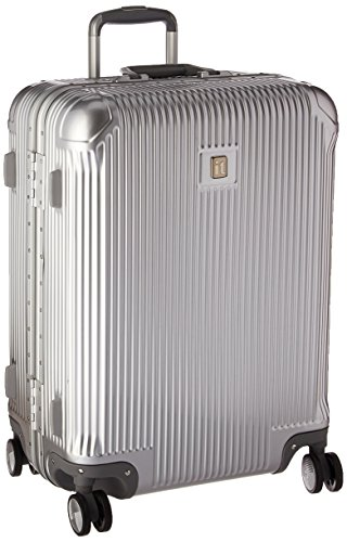 it luggage Crusader Hardside 8-Wheel Spinner, Silver, Checked-Medium 26-Inch