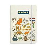 オランダの風景の動物の国旗 ノートブッククラシックジャーナル日記A 5