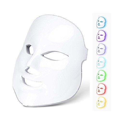 Máscara Led 7 Cores Fototerapia Facial Tratamento Rejuvenescedor, Anti Acne, Olheiras e Manchas na Pele