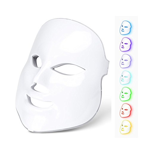 7 Colors Led Neon-glowing LED Face Mask Electric Facial Skin Face Care