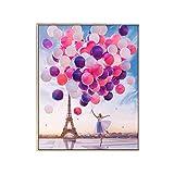 ZHI BEI Centrarse en el Bordado de Diamantes artesanales d 5d Diamond Painting Paris Tower Globo Lleno de Pegatinas de Diamante Cross Stitch Parlor Ballerina Girl (Size : 70x93cm)