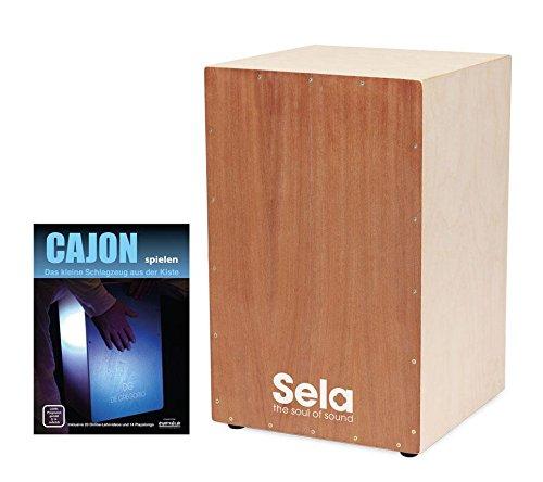 Sela SE 001 Snare Cajon bouwset incl. cajonschool (zelf bouwen, uitneembaar snare-systeem, gereedschap voor het verwarmen, Clap Corner geluid, antislip rubberen voetjes, incl. noten)