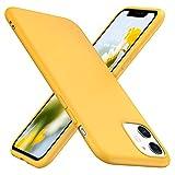 TesRank iPhone 11 Hülle, Matte Oberfläche Soft Hüllen [Ultra Dünn] [Kratzfest] TPU Schutzhülle Hülle Weiche Handyhülle für iPhone 11-Gelb