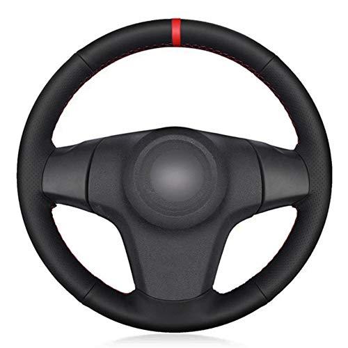 MioeDI Cubierta de Volante de Coche de CueroNegro DIY, para Chevrolet Niva 2009-2017 3 Rayos Vauxhall Corsa D Opel Corsa D