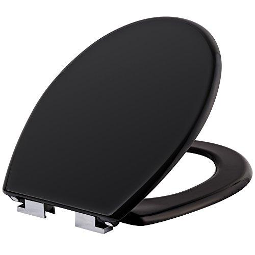 TecTake Coperchio per WC 3D sedile copriwater conchiglia con chiusura ammortizzata - modelli differenti - (nero | no. 402257)