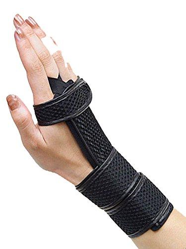 【背側リストスプリント 手関節 腱鞘炎 ねんざ バネ指 サポーター】 (L(手首16-19cm))
