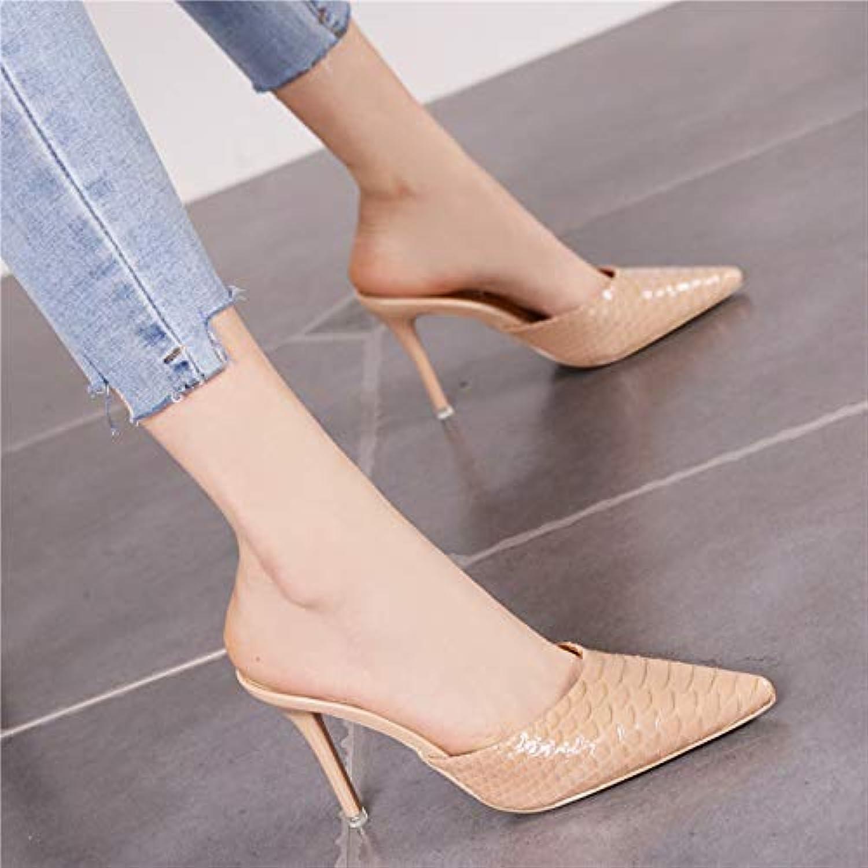 HRCxue Pumps Sexy Baotou-Halbschuhe tragen Sandalen und Pantoffeln mit Wilden Stilett-High-Heels-Frauen  | Moderater Preis  | Export  | Großer Räumungsverkauf