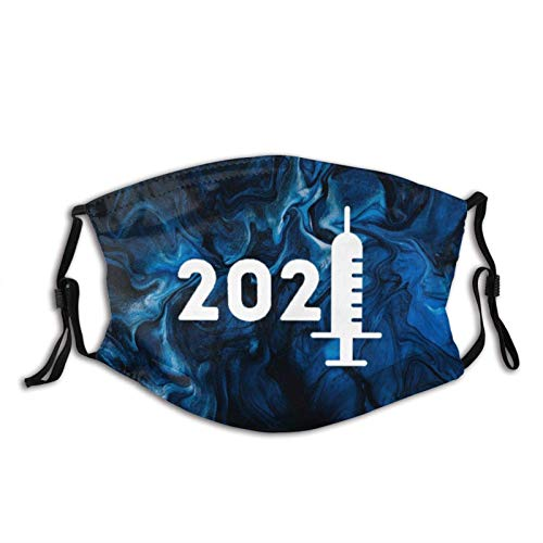 Vaccines Immune Vaccinated Pro Vaccine 2021 Vaccination-1 Face Masks with Filter Anti-Dust Adjustable Bandanas Washable Reusable Cloth Balaclava for Men Women Black