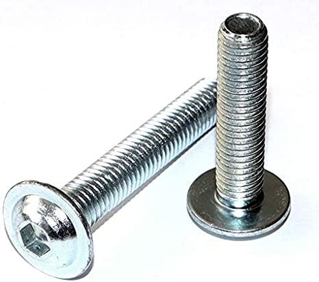 n/úmero 10 unidades Tornillos de cabeza plana con hex/ágono interior y brida M3 x 6 DIN 7380-2 acero galvanizado 10,9 unidades