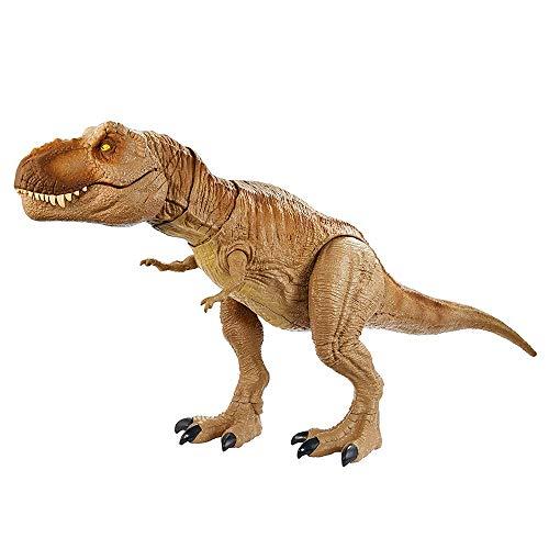 LRHD Jurassic World TynanSaurus Rex Dinosaur Toy Camp Cretácico con la característica de ataque primordial Sound Modelos de agitación realistas Sonidos de simulación para niños y niñas marrón 56x11.5x