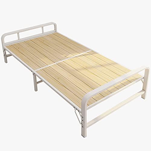 Letto pieghevole in legno massello letto singolo di ricambio per adulti, letto da campeggio per esterni con struttura in acciaio portatile, letto per visitatori full size, letto extra per bambini