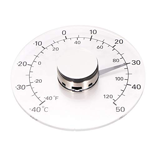Houkiper Temperaturüberwachungs Messgerät, transparentes analoges Celsius Thermometer Fenster Pasten Thermometer im Freien