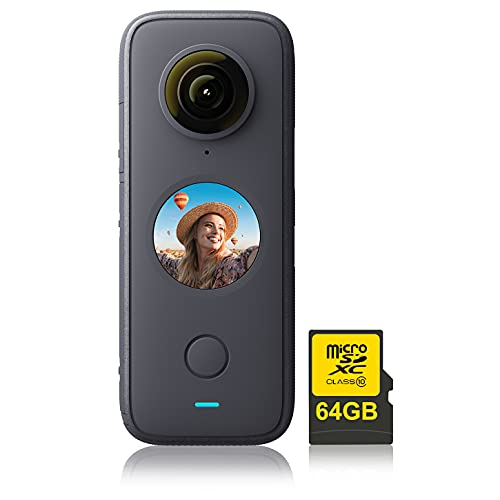 Insta360 ONE X2 360 Degree Action Camera with 64GB Memory Card
