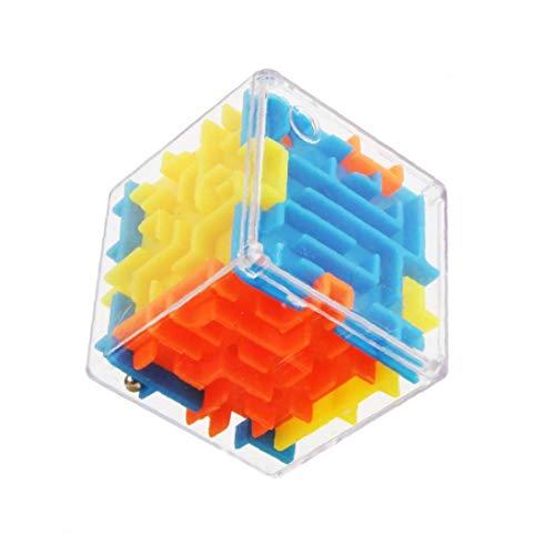 Cubo del Rompecabezas 3D Maze la Mano del Juguete Juego de Caja de la Caja Bolas rodantes Juguetes de niños desafío de Equilibrio Fidget Laberinto Juguetes para niños
