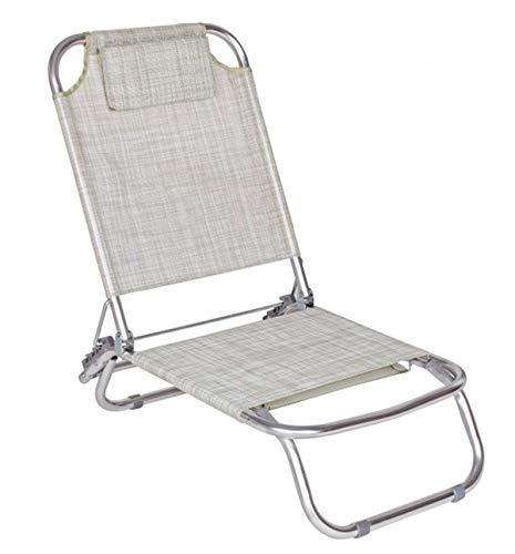PEGANE Lot de 6 chaises Relax Coloris Gris - Dim : L 84 x H 46 x P 73 cm