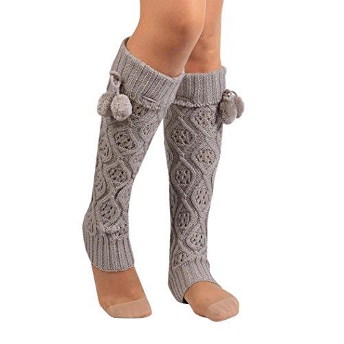 RETUROM Calcetines, Moda Mujer Bowknot Encaje de Ganchillo de Punto de Ajuste de Ajuste de...