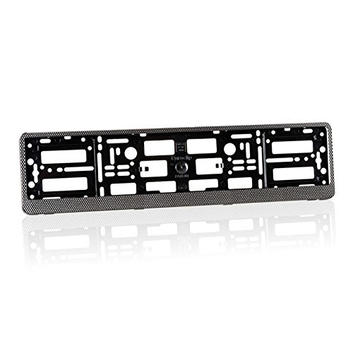 2 x Audi Number Plate Holders Carbon Effect Finish / Car Registration Surrounds / Front and Rear Frames for Audi S-Line S Line