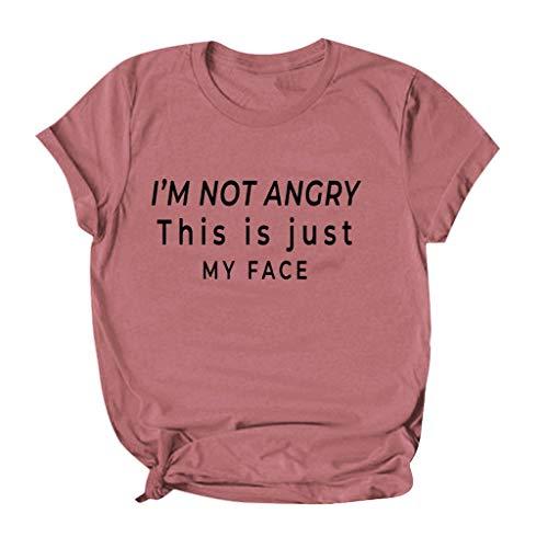 Floweworld🍒Kurzarm T-Shirts für Frauen Plus Size Casual Sommer Loose Fit Grafik T-Shirts für Mädchen Junior Tops, Neuheit Einfaches Shirt Basic T-Shirt Bluse