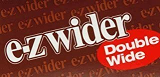 2 X 4 PACKS OF EZ WIDER DOUBLE WIDE CIGARETTE ROLLING PAPERS,EZWIDER.