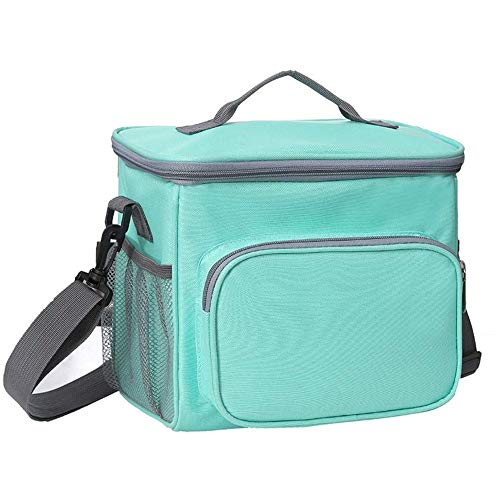 AINY Can Cooler Bag Lunch Bag, Cooler Bag Insulated, Small Cooler Bag with Liner A Prueba De Fugas Cubo Duro para Hombres, Mujeres, Viajes, Camping, Picnic, Playa, Barbacoa,Verde