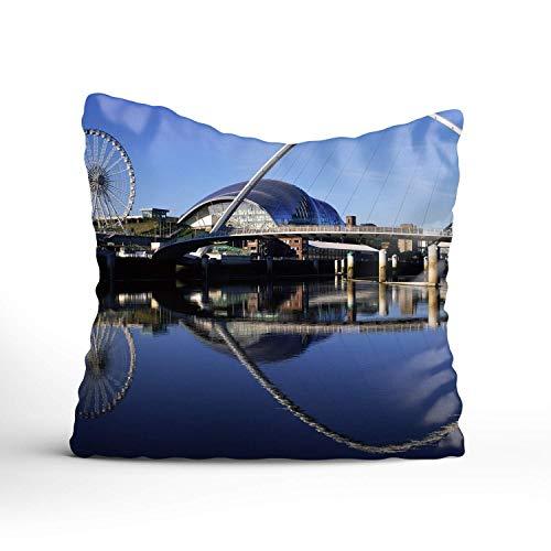 N\A Dekorative Kissenbezüge Gateshead Millennium Bridge England Kissenbezüge