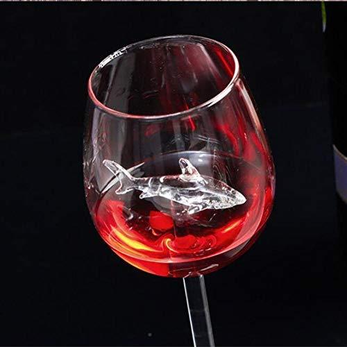 Vasos Una función de tiburón Copa de Vino Nuevo diseño del cubilete de Cristal Whisky Cena Decorar cristalino Hecho a Mano for el Partido Flautas de Cristal