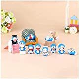 No Cute Mini Doraemon 10 PCS/Set Anime Modelo Figuras Estatua Decoración Souvenir Otaku Anime Regalos Juguetes Modelo Kits