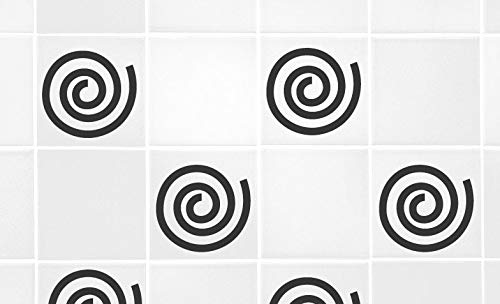 60 Second Makeover Limited Set of 9 Swirls for 4' x 4' Tile Transfer Vinyl Stickers Decorative Kitchen Bathroom Graphic Gold Matt
