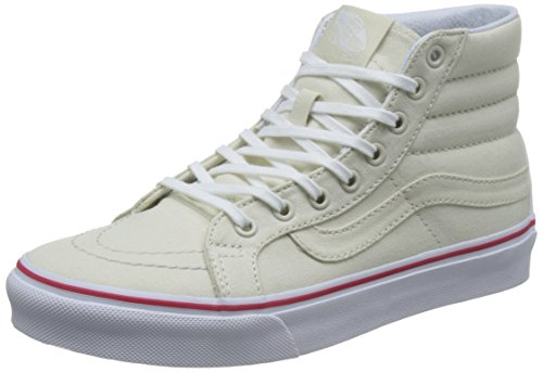 Vans Ua Sk8-Hi Slim, Zapatillas Altas para Mujer, Hueso (Leather Canvas Bone/true White), 35 EU