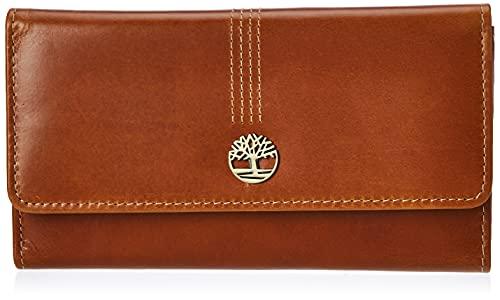 Timberland Women's Leather RFID Flap Wallet Clutch Organizer, Cognac (Buff Apache), One Size