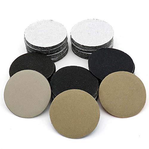 YJRIC Sandpapier 30PCS 2-Zoll 50MM Klett-Nassschleifpapier Schleifblätter Siliziumkarbid 60 bis 10000 Körnungen zum Polieren Schleifen, 320