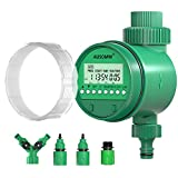 Water Timer for Irrigation System, AUSOMM Automatic Digital Sprinkler Timer   LCD Display Hose Timer with Y-Shaped Quick Connector, 15 Watering Programs Settings for Outdoor Yard, Garden, Lawns