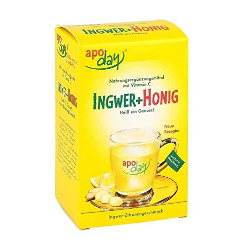 Apoday Ingwer+Honig Pulver Ingwer-Zitronengeschmack, 10X10 g