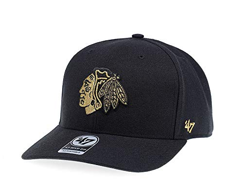 47Brand Chicago Blackhawks Pure Gold Edition MVP DP Snapback Cap - NHL Kappe