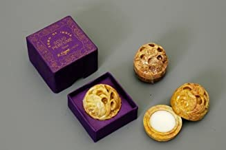Vanilla - Solid Perfume In Small Hand Carved Stone Jar - Song of India