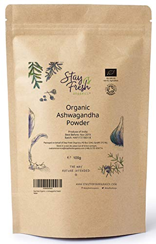 Stay Fresh Organics - 500g Organic Ashwagandha Powder (Withania Somnifera) - Tested for Heavy Metals - Eco-Friendly Pouch - Certified by Soil Association (500g)